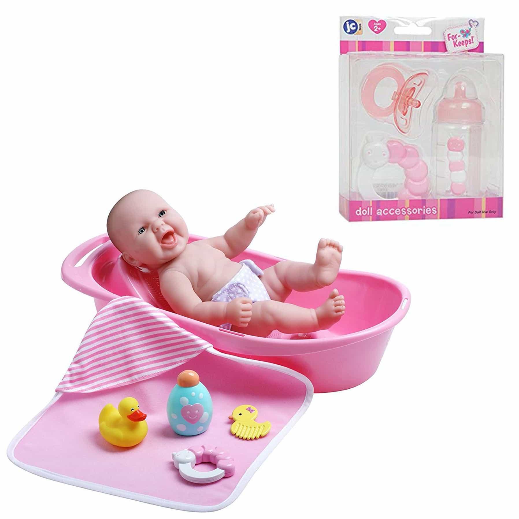 La Newborn Baby Doll Set + Accessories (Styles May Vary)